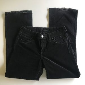 Kut from cloth flare corduroy black pant